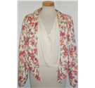 Vintage Imagio by Connection, size S/L cream, green and pink floral jacket and shorts