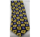 Urban Spirit yellow/purple square patterned tie