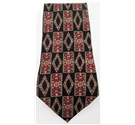 Galileo black & red mix patterned silk tie