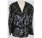 Harvey Nichols size: 10 jacket/ size 12 bustier black and gold patterned two piece set