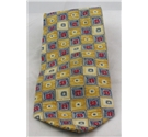 Pierre Cardin yellow, blue & red patterned silk tie