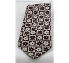 The Saville Row Tie Company cream & burgundy patterned tie