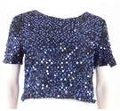BNWT Opus London Size 12 Blue Sequin Top