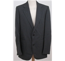 Vintage Harrods size 42L charcoal grey pinstriped single breasted suit jacket