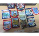 Stitched Badges 12 in total all Scottish APART FROM ONE Cumbria