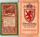 3 different types of vintage OS maps: Road map, Coloured edition, Popular Edition (Scotland) - see 'description' for details