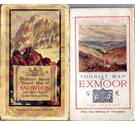 3 OS one inch Tourist maps from various eras: Exmoor, Snowdon, Lake District - see 'description' for details