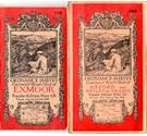 3 OS 1920s one inch Contoured Road Maps: Exmoor, Buxton & Matlock, Oxford & Henley