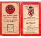 5 OS 1940s 'New Popular Edition' one inch maps