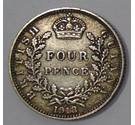 Two British Guiana (Guyana) 4 Pence (1918)
