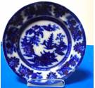 Adams of Tunstall Blue and White Plate