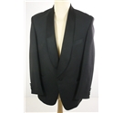 "Vintage Embassy Size 38"" chest, reg fit Midnight Black Single Breasted Tuxedo Jacket"