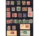 Early German stamps on stockbook page [cat value £75]