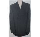Vintage Burton size: L navy blue pinstripe double breasted suit jacket