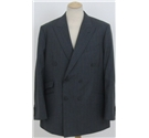 Ermenegildo/Zegna size L grey double breasted suit jacket