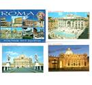 Set of 20 colour postcards of Rome, not postally used