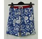 The White Company blue patterned swim shorts Age 6-7 years