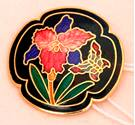 Vintage - Size: Medium - Multi-coloured Floral - Cloisonne - 1980s - Brooch