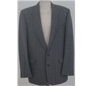 Vintage St Michael size: 42L grey checked single breasted suit jacket