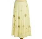 Coast Size 10 Ivory Flared Floral Skirt