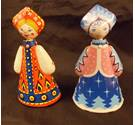 Vintage Russian Wind-Up Dancing Dolls.