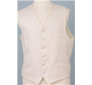 "Heirloom size: 46"" chest ivory waistcoat"