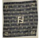 Fendi black patterned scarf