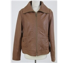 Michael Kors, size XL brown leather jacket