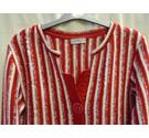 M&S Per Una Red/White Cardigan, Size Small M&S Marks & Spencer - Size: S - Red - Cardigan
