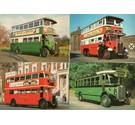 4 London Transport Museum postcards - vintage buses