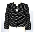 "M&S Marks & Spencer - Size: 8 - Bust 34"" - Black + White - Ladies' Jacket"