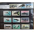 Falkland Islands 2012 mint set Whales and Dolphins