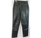 Classic Woman Size 14 Black Leather Trousers