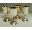 Set of 4 Vintage Silver Plated Goblets