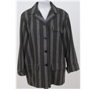 Fashion Fighting Poverty - Jaeger, size 12 brown & black stripe boxy jacket