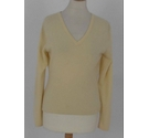 Johnstons Cashmere Jumper Cream Size: S
