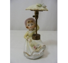 Vintage Porcelain Perfume Spray Girl Figurine