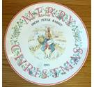 Peter Rabbit Merry Christmas Plate 1993 Wedgwood Wedgewood
