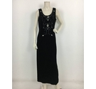 Libra Embellished Dress Black Velvet Size: 16