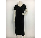 Design Essentials Maxi Dress Black Velvet Size: 18