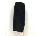 Michael Phillips Maxi Skirt Black Velvet Size: 12