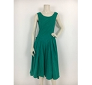 Laura Ashley Floral Dress Green Size: 12
