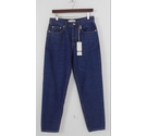 Monkee Genes Cotton Dark Wash Dad Jeans Blue Size: 29""