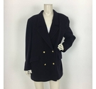 Jaeger Double Breasted Coat Navy Size: 20