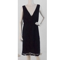 Phase Eight Embelished Dress Black Size: 16