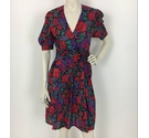Unbranded Paisley Mini Dress Red Size: S
