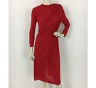 Yvonne Jacovou at Cornelius Long Sleeved Dress Red Size: S