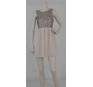 WYLDR London Sequin Embellished Dress Cream Size: S