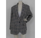 M&S Marks & Spencer Wool Blazer Coat Black and Brown Size: 8