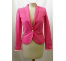 Stradivarius - Fitted Blazer - Vibrant Pink - Size: S